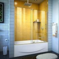 DreamLine Mirage-Z 56-60 in. W x 58 in. H Frameless Sliding Tub Door in Brushed Nickel, SHDR-1960584-04