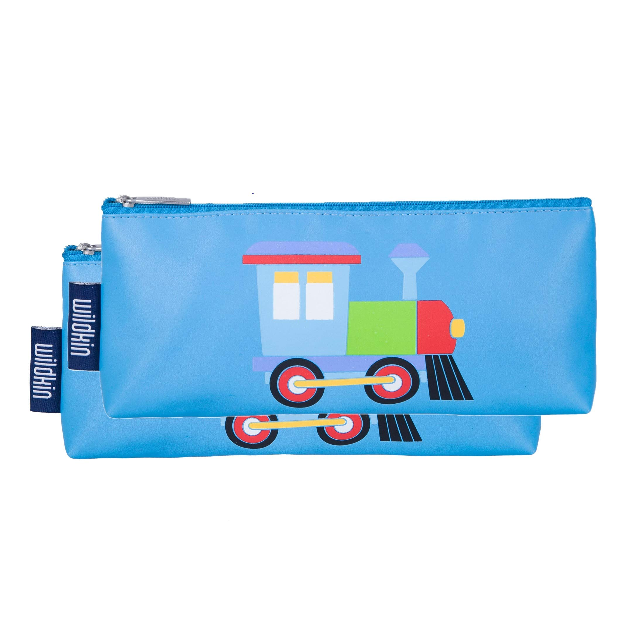 Wildkin Kids Pencil Pouch for Boys and Girls, Comes with 2 Matching Pouches, Perfect for Packing Pens,  Markers, and Other Supplies for School and Travel, Patterns Coordinate with Our Backpacks