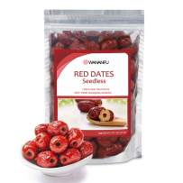 Wananfu - Pitted Jujube Red Dates Dried | Red Dates Seedless | 红枣 Healthy Snacks Superfood - 8oz