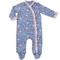 Baby Girl's Footed Pajamas Sleepers- Footie Side Snap Footies