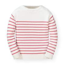 Hope & Henry Girls' Long Sleeve French Look Pullover Sweater