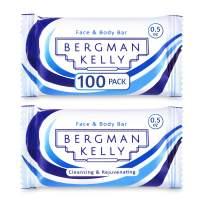 BERGMAN KELLY Sanitary Soap Bars (White Tea, 0.5 oz, 100PK), Travel Size Luxury Bulk Hotel Bar Soap, Mini Individually Wrapped Rectangular Soap, Hotel Toiletries for Airbnb, Motel, Guest Bathroom