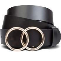 Black Womens Belt - Womens Belts for Jeans, Dresses & Pants (M), Fashion Belts for Women that Impress, Affordable Designer Belts for Women (Medium)