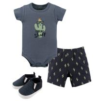 Hudson Baby Unisex Baby Bodysuit, Bottoms and Shoes