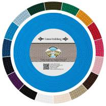 Country Brook Design - Ice Blue Heavy Cotton Webbing with 17 Vibrant Color Options (1 Inch, 25 Yards)