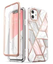 i-Blason Cosmo Series Case for iPhone 11 (2019 Release), Slim Full-Body Stylish Protective Case with Built-in Screen Protector, Marble, 6.1''