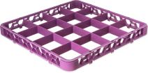"Carlisle RE16C89 OptiClean 16 Compartment Divided Glass Rack Extender, 1.78"", Lavender"
