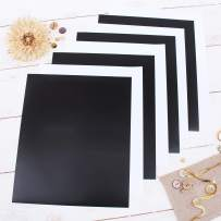 "Threadart Black & White 10"" x 12"" Heat Transfer Vinyl Precut Sheets | Bundle Pack Solid Colors | 4 Sheets Each Color | For Silhouette Cameo Cricut |HTV"