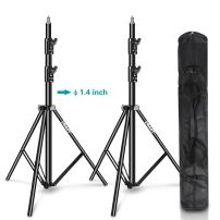 Emart Light Stand 8.5ft, Dual Spring Cushioned Adjustable Photo Video Lighting Stand, Heavy Duty Aluminum Construction with Carrying Bag for Photography and Studio Equipment (2 Pack)