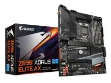 GIGABYTE Z590 AORUS Elite AX (LGA 1200/ Intel Z590 ATX/Triple M.2/ PCIe 4.0/ USB 3.2 Gen2X2 Type-C/Intel WiFi 6/2.5GbE LAN/Gaming Motherboard)