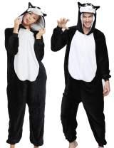 CALANTA Unisex Animal Onepiece Pajamas Costume Halloween Party Onesie for Men and Women