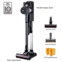 LG Cordzero A9 Ultimate, Cordless Stick Vacuum Cleaner with Two Batteries, for Hard-Floor, Carpet, Couch, Mattress, Car (A907GMS), Matte Grey
