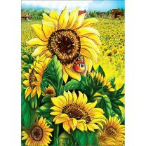 DIY 5D Diamond Painting by Number Kits, Full Drill Crystal Rhinestone Embroidery Pictures Arts Craft for Home Wall Decor Gift, Sunflower 11.8x15.8in