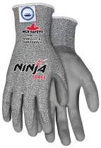 MCR Safety N9677XL Ninja Force Polyurethane/Dyneema 13-Gauge Gloves, Gray, X-Large, 1-Pair