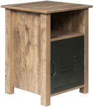 OneSpace Norwood Range Locker End Table, Oak