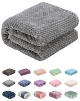 """WONDER MIRACLE Throw Blanket of Plush Fuzzy Fleece Lightweight Soft Warm Cozy Coral Multipurpose for Couch and Sofa,Picnic,Beach,AC Room,Travel, Outdoor, Decorative (Throw(50""""x70""""), L-Flint Gray)"""