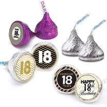 Happy 18th Birthday Stickers For 18 Years Old Party Decoration - Birthday Favor Labels -240 Count