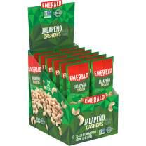 Emerald Nuts, Jalapeno Cashews, Single-Serve 1.25 Ounce, 12 Count