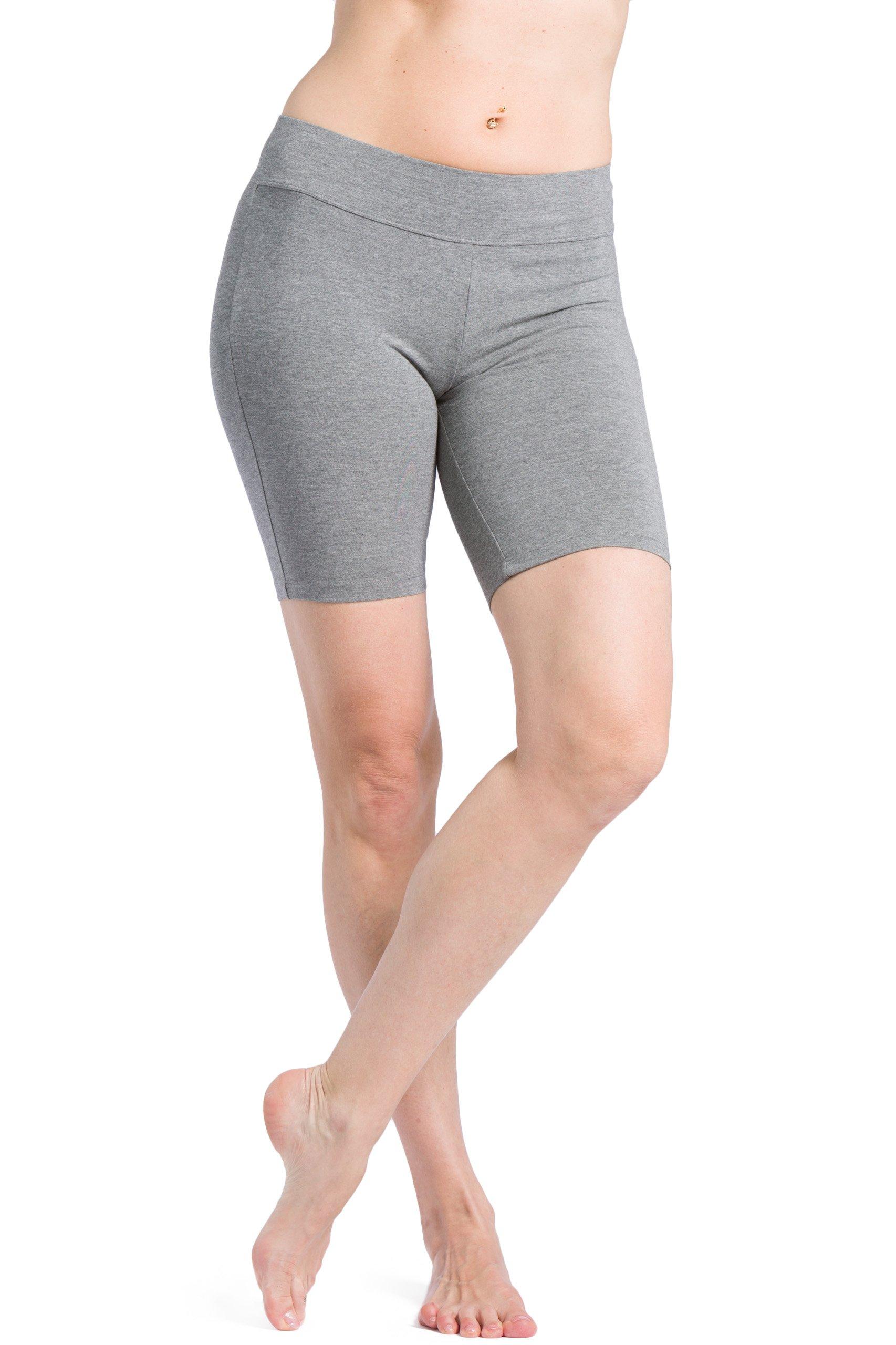 Fishers Finery Women's Ecofabric Classic Yoga Training Running Short; Mid Thigh