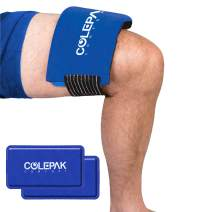 ColePak Comfort Reusable Ice Packs for Injuries with Soft Fleece Wrap (2 Gel Packs) - Hot Cold Therapy Perfect for Knee, Back, Foot, or Ankle