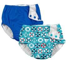i Play. Boys' Ultimate Reusable Snap Swim Diaper 2 Pack Navy Blue
