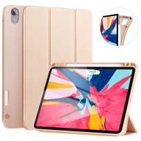 Ztotop Case for iPad Pro 11 Inch 2018 with Pencil Holder- Lightweight Soft TPU Back Cover and Trifold Stand with Auto Sleep/Wake,Support 2nd Gen iPad Pencil Charging,Gold