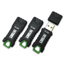 GorillaDrive 3.0 Ruggedized 32GB USB Flash Drive (3-Pack)