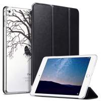 ULAK iPad Mini 4 Case, Mini 4 Case Clear with Design, Lightweight Slim Smart-Shell Stand Cover with Auto Wake/Sleep Function for Apple iPad Mini 4 7.9 inch 2015 Release Tablet, DrawnTree
