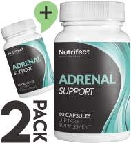 Nutrifect Nutrition Adrenal Support Supplements Keep You Sharp, Combats Stress, Anxiety, and Fatigue, Includes Vitamins B6, B12, Ashwagandha, Rhodiola Rosea, 60 Capsules (2-Pack)