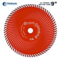 """TOOLGAL Diamond Blade 9"""" for Masonry - Wet and Dry Cutting of Concrete/Roof Tiles/Stone - ⅞"""" Arbor fit to Angle Grinders, Circular Saws, Masonry Saws, Tilesaw and Cutoff Cutters"""