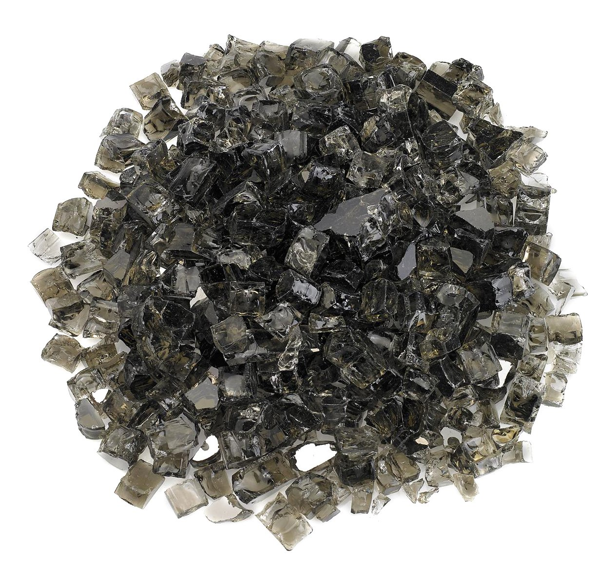 "American Fireglass 1/2"" Bronze Reflective Fire Glass, 20 lb. Bag"