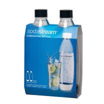 SodaStream Black 1L Slim Carbonating Bottles Twin Pack, 1-Liter