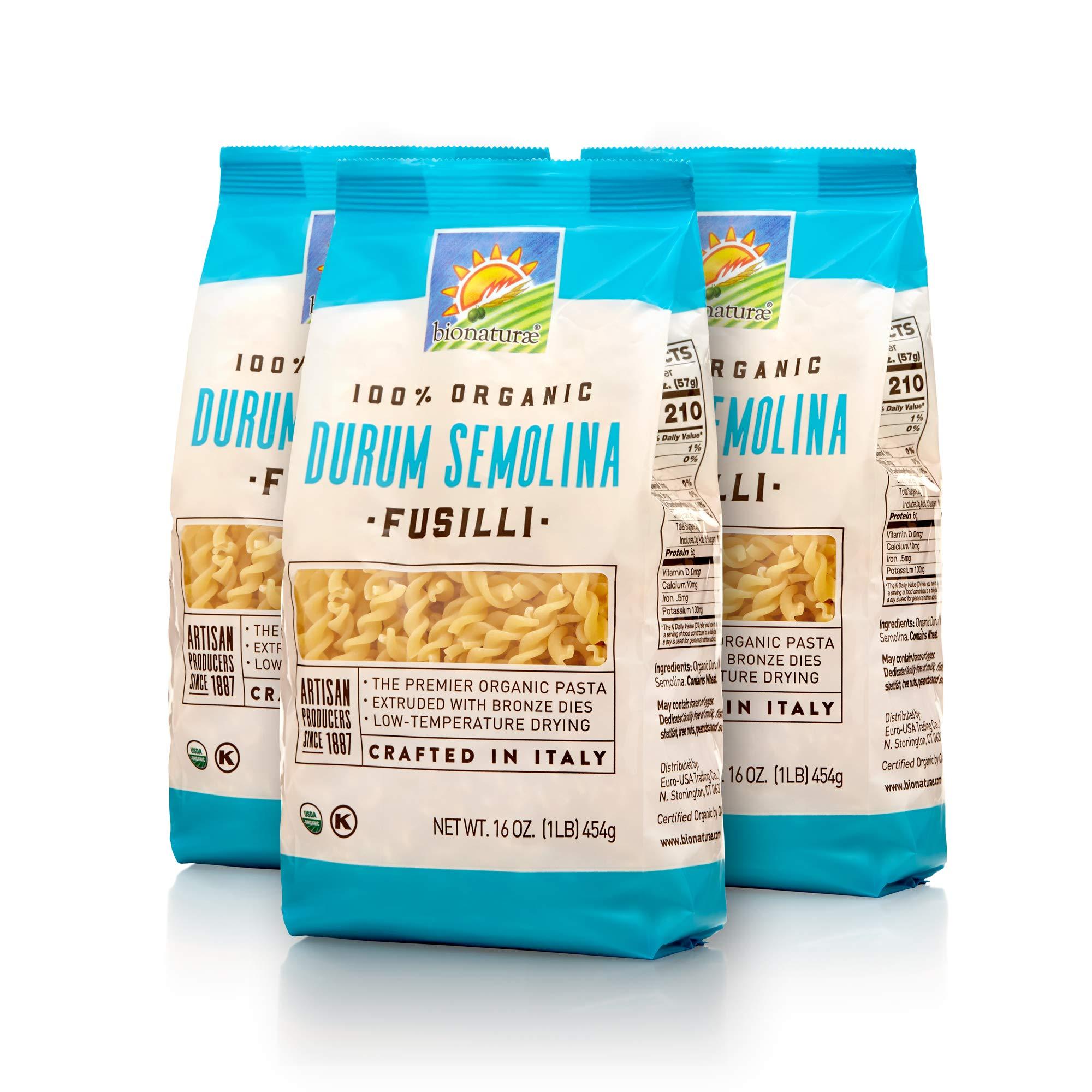 Bionaturae Organic Durum Semolina Fusilli, 6 Count