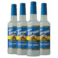 Torani Sugar Free Syrup, Coconut, 25.4 Ounces (Pack of 4)