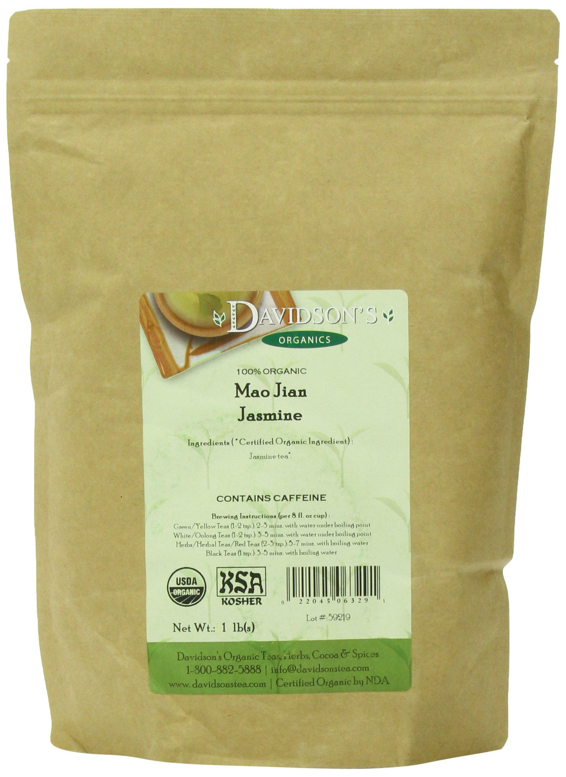 Davidson's Tea Bulk, Organic Mao Jian Jasmine, 16 Ounce