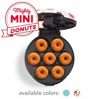 Dash DDM007GBDP04 Mini Donut Maker Machine for Kid-Friendly Breakfast, Snacks, Desserts & More with Non-stick Surface, Makes 7 Doughnuts, White