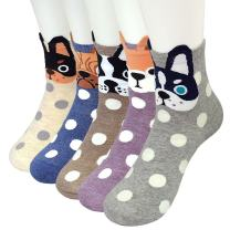 Womens Cat Dog Socks Cute Animal Cotton Ankle Sock Funny Colorful Novelty Sox Women Gift 5/10 Pairs