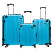Rockland London Hardside Spinner Wheel Luggage, Turquoise, 3-Piece Set (20/24/28)