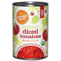Natural Value Organic Diced Tomatoes, 14.5 Ounce (Pack of 12)