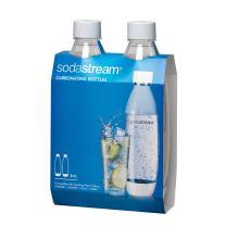 SodaStream White 1L Slim Carbonating Bottles Twin Pack, 1-Liter