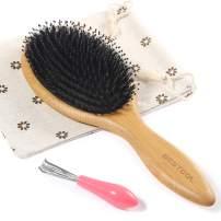 BESTOOL Hair Brush, Boar Bristle Hair Brushes for Women men Kid, Boar & Nylon Bristle Brush for Wet/Dry Hair Smoothing Massaging Detangling, Everyday Brush Enhance Shine & Health