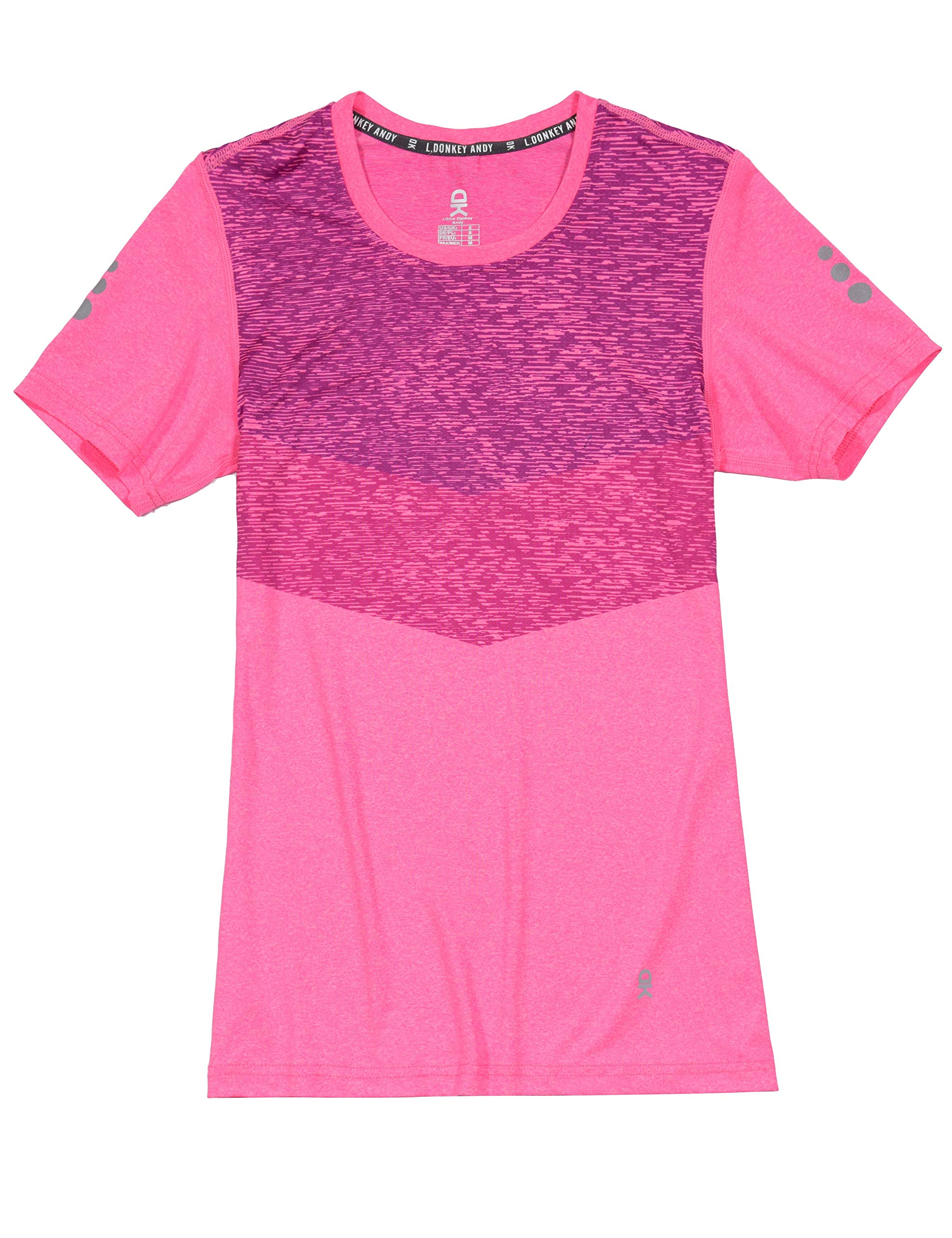 Little Donkey Andy Women's Quick Dry Sweat Wicking Short Sleeve T-Shirt Sun Protection Athletic Workout Running Hiking Tee
