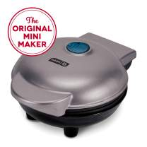 Dash DMW001GY Mini Machine for Individual, Paninis Waffle Maker, Hash browns, other on the go Breakfast, Lunch, or Snacks, Grey