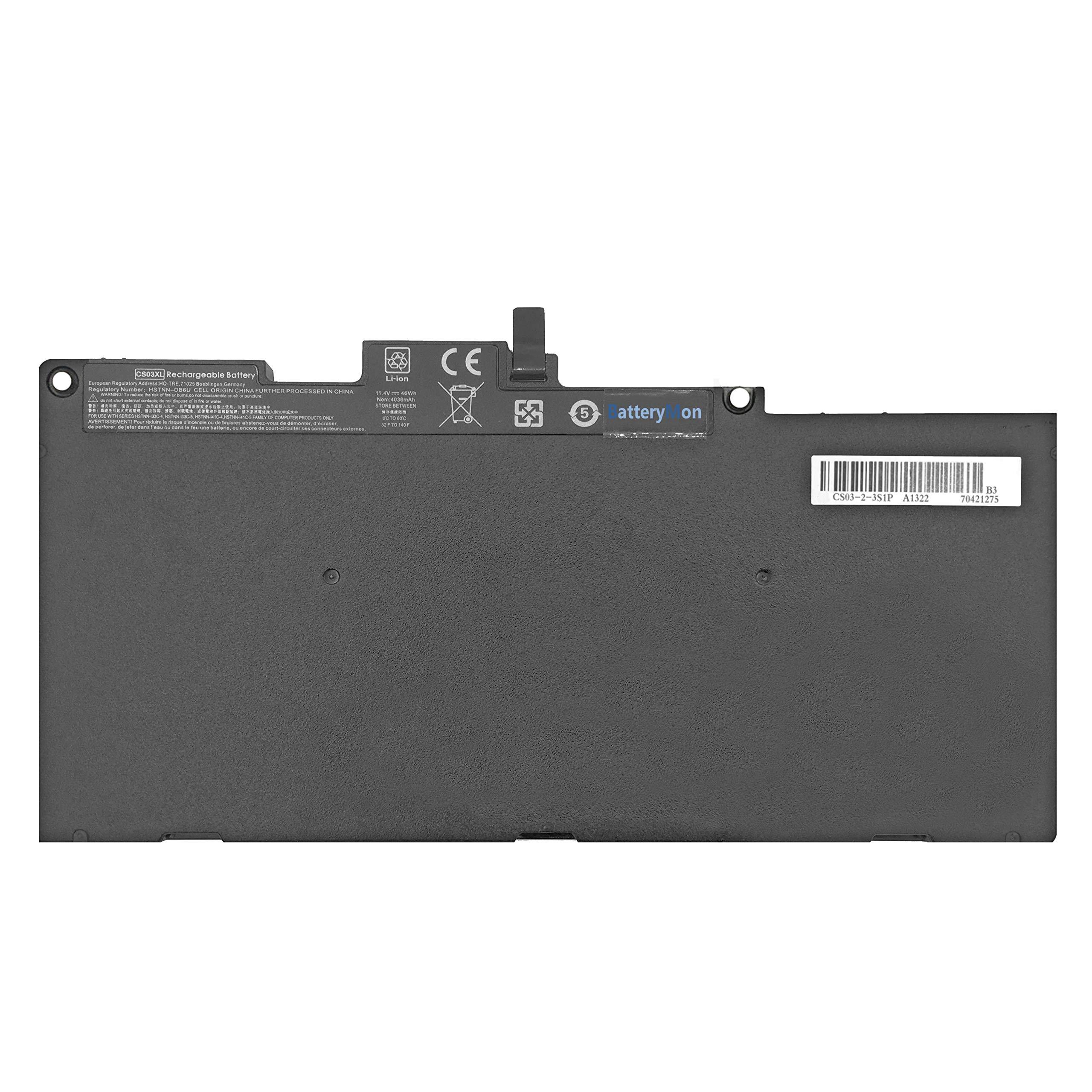 BatteryMon Battery CS03XL for HP Elitebook 745/755 / 840/848 / 850 G3 Laptop, P/N: HSTNN-UB6S HSTNN-IB6Y 800231-141 800513-001