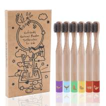 Ecofriendly, Biodegradable Kids Toothbrushes | BPA-Free Soft Charcoal Bristles |Cute Color-Coded Toothbrushes Made from Natural, Sustainable Bamboo | 6 Pack…
