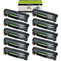 GREENCYCLE 10 Pack 78A CE278A Black Laser Toner Cartridge Compatible for Laserjet Pro P1606dn P1566 P1560 M1536dnf P1600 Printer