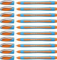 Schneider Slider Memo XB Ballpoint Pen, Orange, Box of 10 (150206)