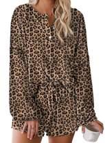 Selowin Womens Pajamas 2-Piece Top Shorts Pants Lounge Nightwear Sleepwear PJ Set