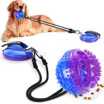 restone Dog Chew Toy, Suction Cup Dog Rope Toy for Aggressive Chewers, Interactive Dog Puzzle Treat Food Dispensing Ball Toy for Small Large Dogs, Puppy Teeth Cleaning Dog Tug Toy for Boredom