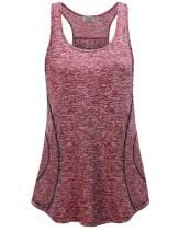 MOQIVGI Womens Sleeveless Loose Fit Racerback Workout Gym Yoga Running Tank Tops